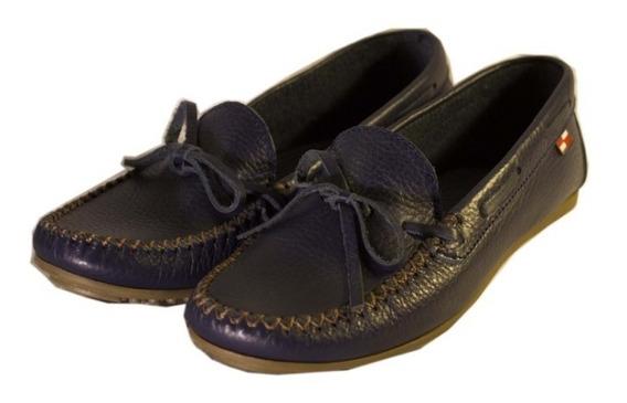 Zapatos Nauticos Violeta 0026 Mujer Nuevos Oferta!!!