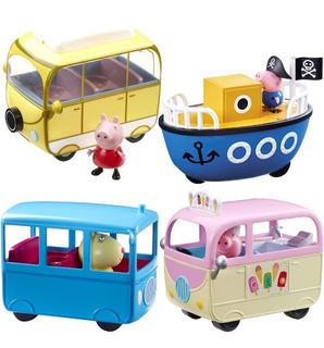 Caravana Peppa Pig Con Figura De Auto Casa Rodante Original