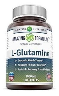 Glutamina 1000 Mg 120 Tabl Amazing Formulas Importado