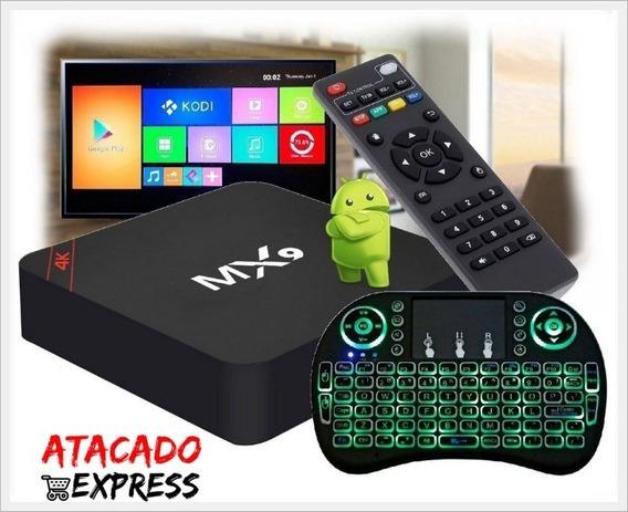 Tranforme Sua Tv Em Smart 4k Pro 3gb/16gb + Mini Teclado