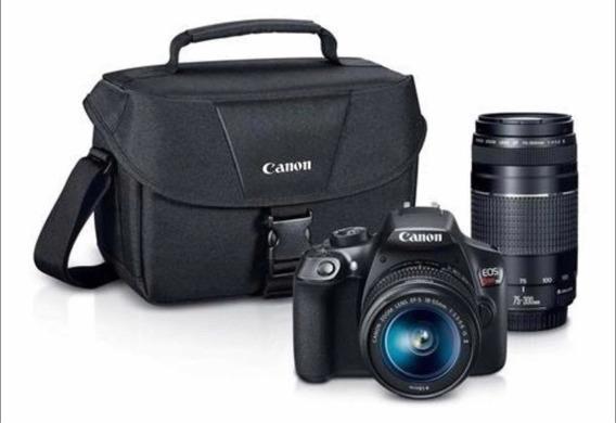 Canon T6 Kit 18 -55 75 -300 Bolso +memoria De 32