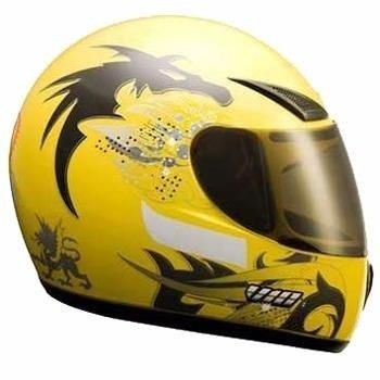 Lindo Capacete V10 Dragon Amarelo Novo Tamanho 56 Promoção