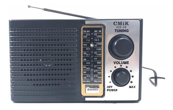 Rádio Analógico Portátil Am Fm 4 Bandas Modelo Antigo Bivolt