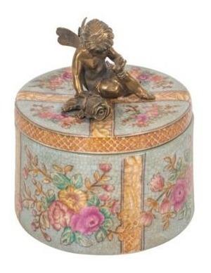 Caixa Decorativa De Porcelana Anjo - Exclusiva
