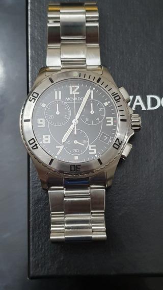 Relógio Movado Swiss Made 84 R5 1890 Cronografo
