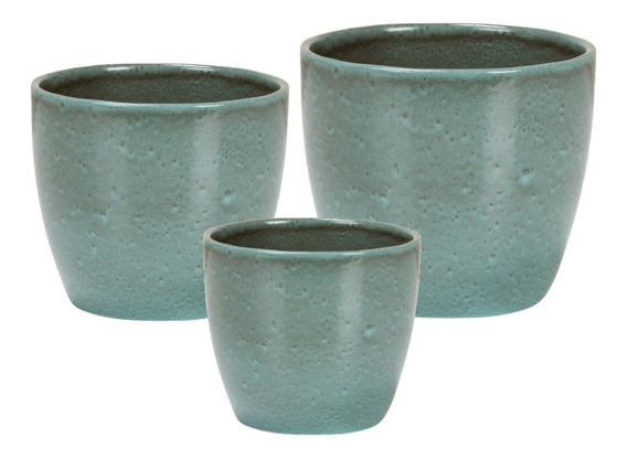Conjunto 3 Cachepo Para Plantas Artificiais Decorativas