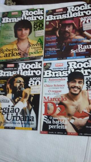 4 Revistas História Do Rock Brasileiro-leia Descrição