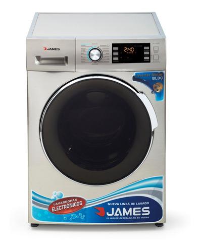 Imagen 1 de 3 de Lavarropas James Lr1016 Silver Inverter 10.5 Kg Pcm