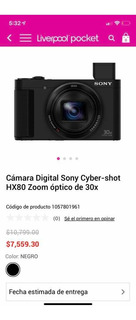 Càmara Sony Cyber-shot Dsc-hx50v Promocion X Pandemia -$$$