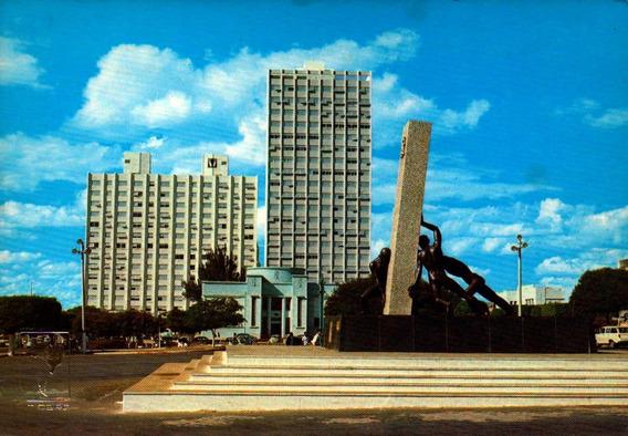 Gyn-15440- Postal Goiania, G O- Praça Civica