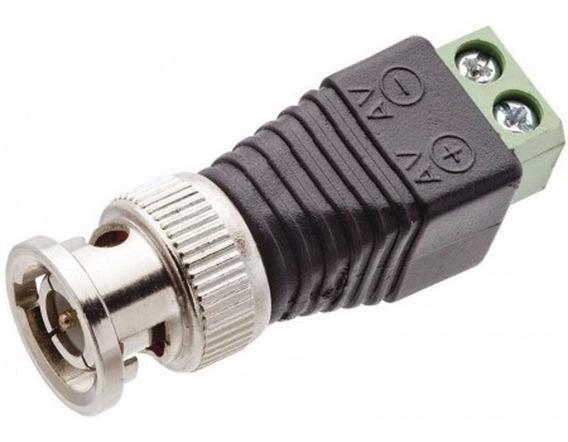 Conector Bnc / Borne Para Camera De Segurança 100 Unidades