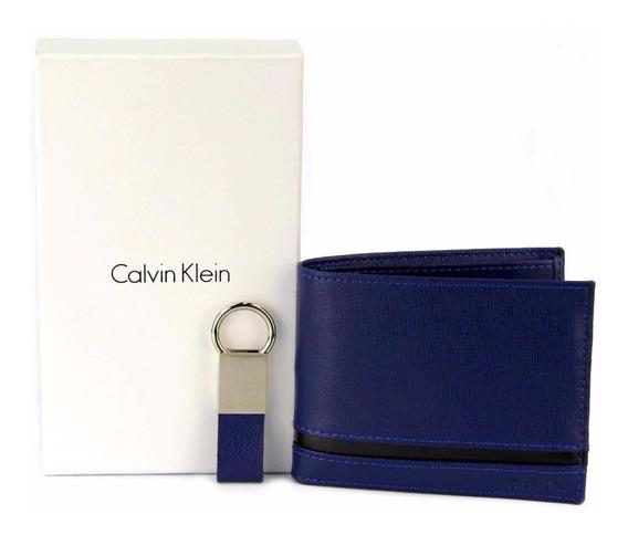 Billetera Marca Calvin Klein Con Llavero Para Caballero79485