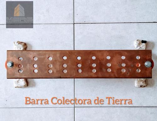 Barra Colectora De Tierra Mgb (20 X4 X1/4 ) Cobre 100%