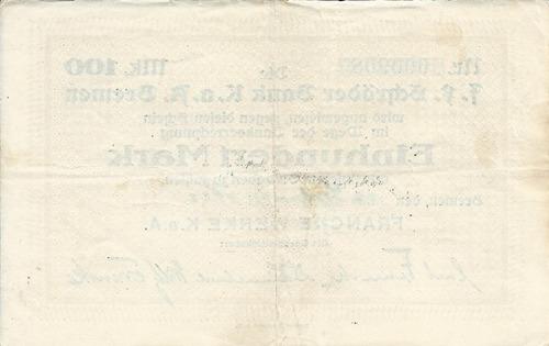 Imagen 1 de 2 de Alemania 100  Marcos 1922