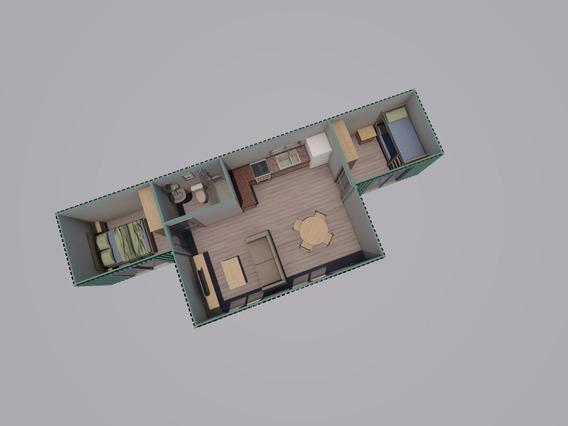 Modulo Habitacional Casa Container Terminada (19)