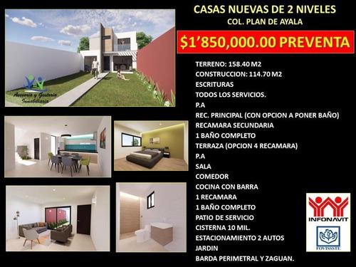 Imagen 1 de 1 de Casa Sola En Venta Plan De Ayala