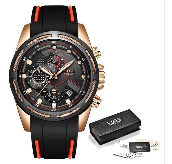 Relógio Masculino Lige 9973 Com Caixa