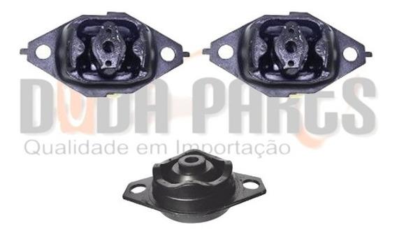 Kit 03 Calço Coxim Motor Câmbio Fiat Tempra 1992 Em Diante