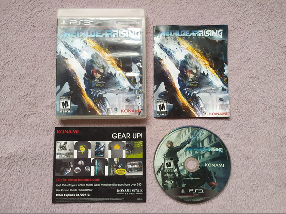 Ps3 - Metal Gear Rising Revengeance, Americano, Completo