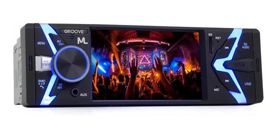 Som Automotivo Groove 1 Din Bluetooth Mp5 Fm Usb P3341