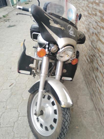 Moto Tipo Harley Modificada Para Largos Viajes, Precio Negoc