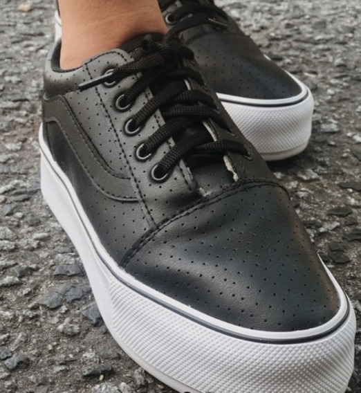 Zapatillas Milano Cuero Negro