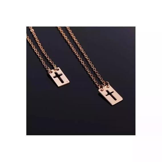 Escapulário Rommanel Medalhas C/ Cruzes Vazadas 531911