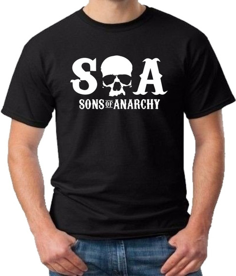 Camiseta Sons Of Anarchy Soa Samcro Filhos Da Anarquia Blusa