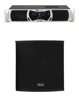 Venetian L18 Sub + Am400 Combo Subwoofer Amplificador
