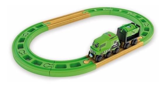 Trencity Kit Inicial Rojo O Verde Tren Madera Edu Full