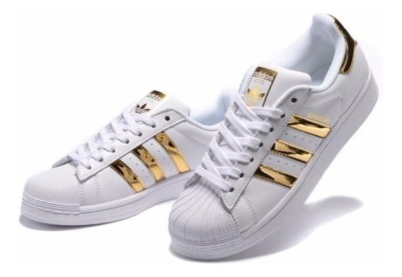 adidas Superstar Blanco Dorado Originals Envio Gratis