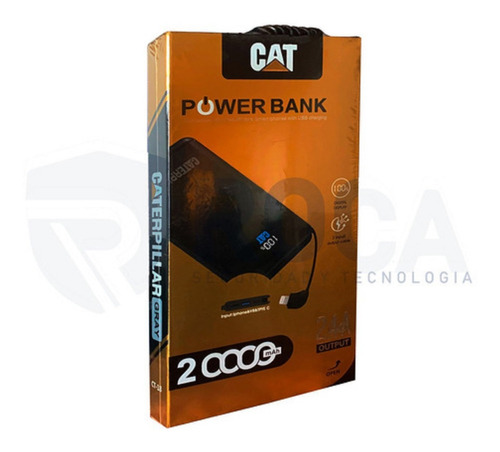 Bateria Ext Power Bank Cat Ctp-18 20.000 Mah Display Out2.4a