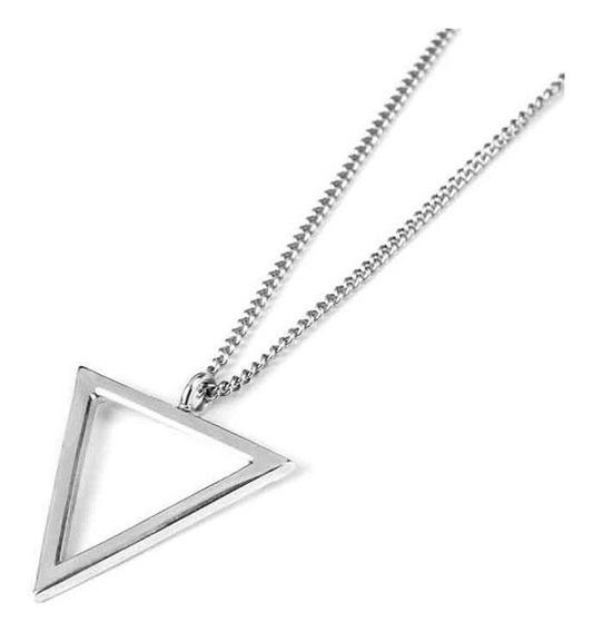 Colar Masculino Com Pingente Triângulo