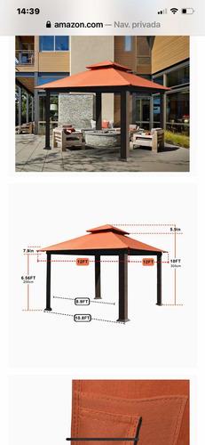 Kiosco; En Madera Y Aluminio De 3 X 3 X 3.5 Mts De Alto