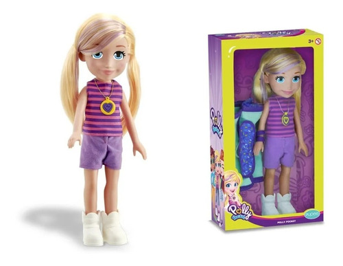 Imagem 1 de 7 de Boneca Polly Camping 38cm Polly Pocket - Mattel Pupee
