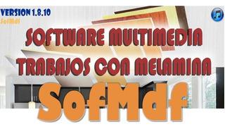 Programa Crear Diseñar Cocinas Y Muebles Sofmdf V1.8