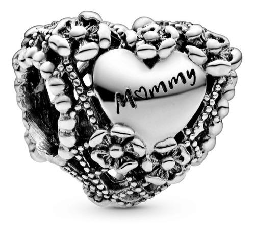 Dije O Charm Pandora Openwork Flower Heart Mommy Original