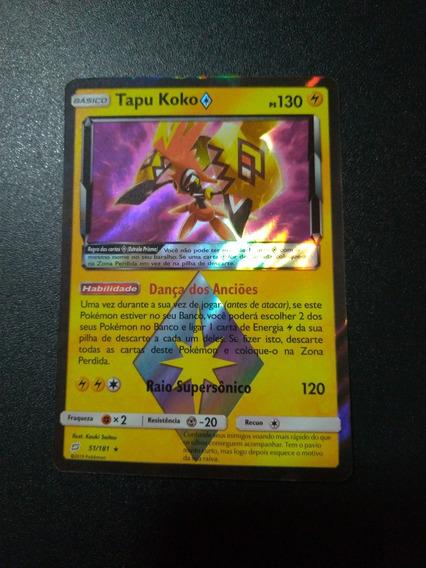 Card Pokemon Tapu Koko Estrela Prisma