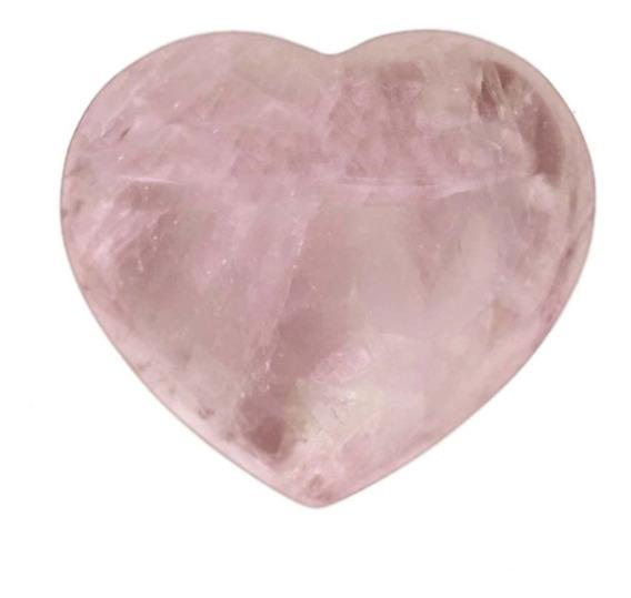 Coração De Cristal Pedra De Quartzo Rosa Natural Amor