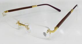 48bcba508 Oculos Cartier Haste De Madeira - Óculos no Mercado Livre Brasil
