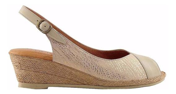 Sandalia Cuero Mujer Briganti Zapato Taco Chino - Mcsd04356