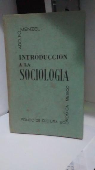 Introducción A La Sociología - Adolfo Menzel