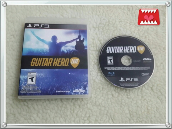 Jogo Guitar Hero Live Playstation 3 Ps3 Mídia Física