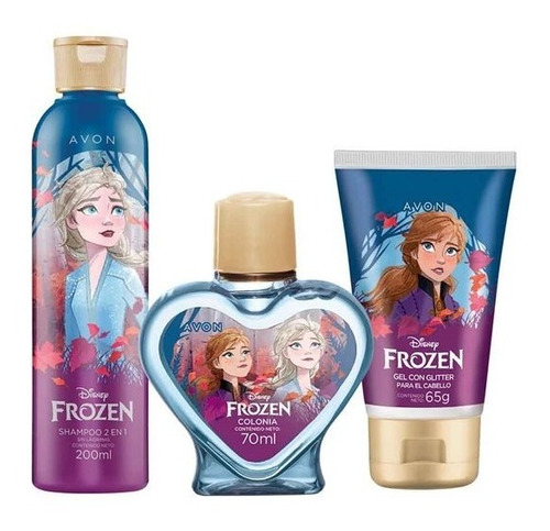 Avon Set X 3 Frozen Disney Gel Con Brillo + Shampoo 2 En 1 +