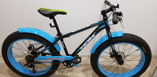 Bicicleta Fat Bike R. 20 Y 24 7 Veloc. F. Disco, T Terreno