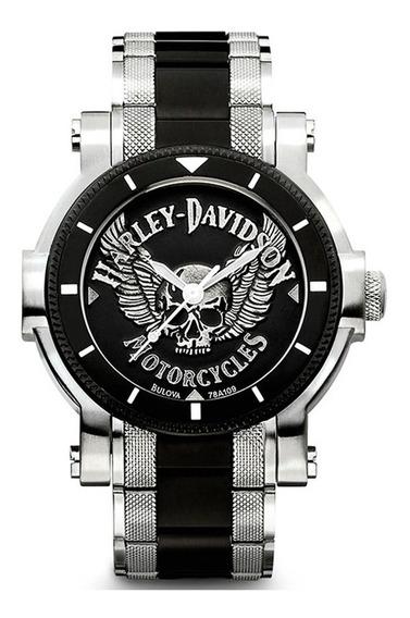 Reloj Harley Davidson Para Hombre Acero Chopper 78a109