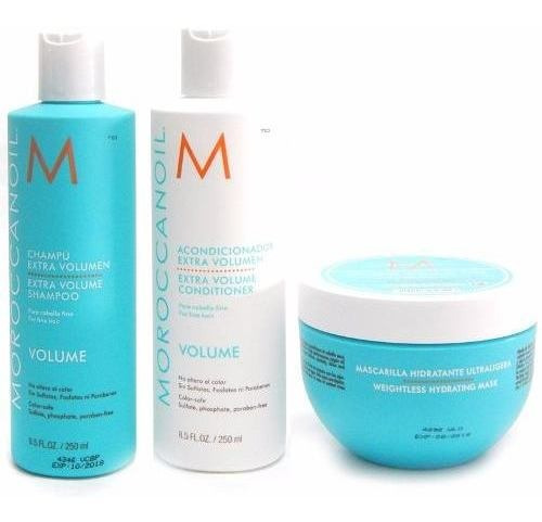 Moroccanoil Kit Shampoo+acondicionador Volumen +mascara X250