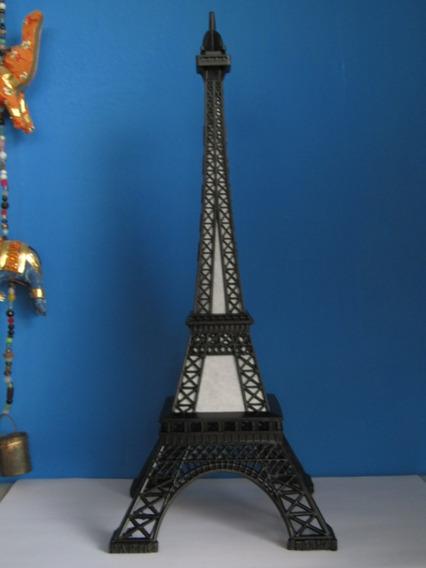 Torre Eiffel Con Nombre Y Led 32 Cm De Metal Pack X 15 U.