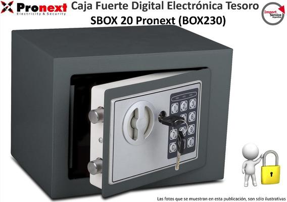 Caja Fuerte Digital Electrónicatesoro Sbox 20 Pronext Box230