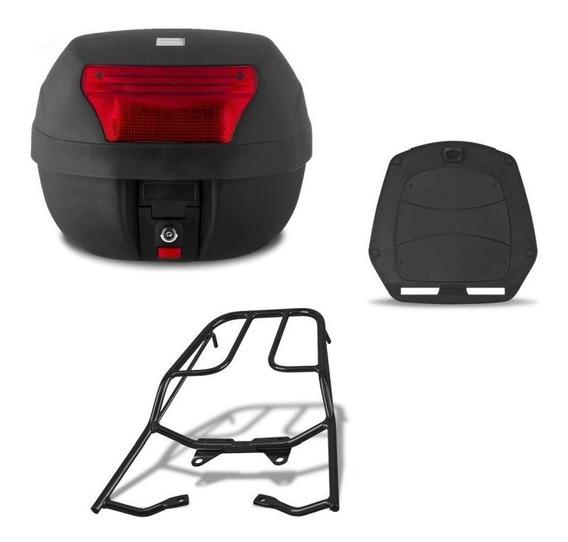 Bau Para Moto 28 Litros Pro Tork + Bagageiro